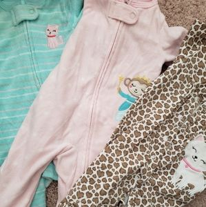0-3 month baby girl sleepers